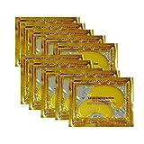 Aliver 24K Goldstaub-Gel-Maske mit Collagen, Augenmaske mit Gold, Paket mit 10 Stück
