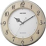 掛け時計 電波時計 静音 ライブリーナチュレ 木目仕上げ リズム時計 8MY506SR23
