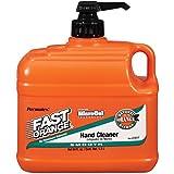 Permatex 23217 Fast Orange Smooth Loción Limpiador de manos con bomba, 1/2 galón