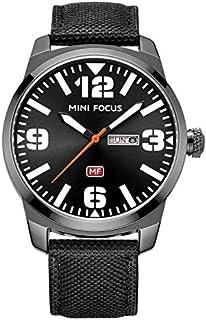 ساعة كوارتز للرجال من ميني فوكس، بعرض انالوج وسوار من الجلد - طراز MF0032G.01