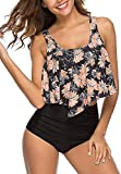 CheChury Donna Costumi da Bagno Push Up Donna Flounce Frill Top Bikini Set Vita Alta Ruches Due Pezzi Beachwear Swimwear