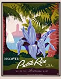 Discover Puerto Rico: Vintage Travel Poster Cover | Jan 1, 2021 to Dec 31, 2021 | Full Year Calendar Page | 8.5 X 11 Inches | 120 Pages | Inspirational Quotes & Pages for Notes