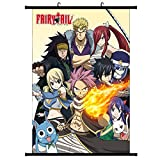 Elibeauty Anime Fairy Tail Wall Poster, Anime Character Wall Scroll Hanging Paintings Art Painting Wall Scroll Poster for Home Art Decoration(Style 05)