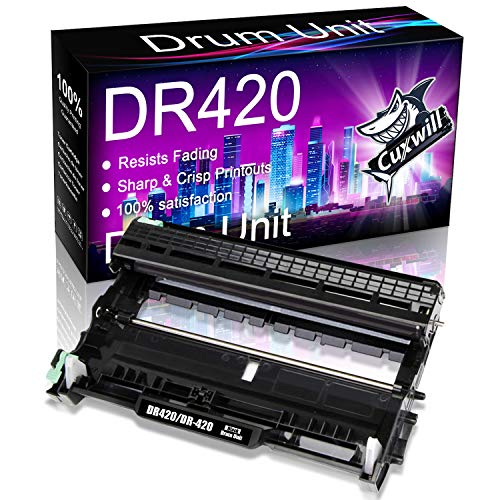 Cuxwill Compatible Drum Unit Replacement for Brother DR420 DR-420 use with HL-2230 HL-2240 HL-2270DW HL-2280DW MFC-7360N MFC-7860DW MFC-7240 DCP-7065DN Intellifax 2840 Intellifax 2940 Printer (Black)
