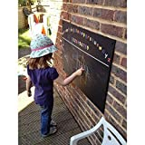 Chalkboards UK WC099 Large Alphabet Printed Unframed Blackboard/Chalkboard, Wood Black, A1, 840 x 600 mm