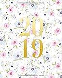 Buchkalender 2019: Terminkalender Oktober 2018 bis Dezember 2019 mit Blumen-Motiv Cover, Organizer 20 x 25 cm, 1 Woche auf 2 Seiten (Wochen- und Monatstimer 2019, Band 1)