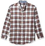IZOD Men's Big & Tall Big Advantage Performance Flannel Long Sleeve Stretch Button Down Shirt, Celosia Orange, 3X-Large Tall