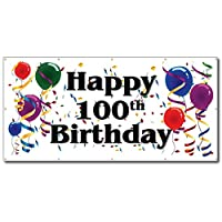 Happy 100th Birthday - 4' x 8' Vinyl Banner