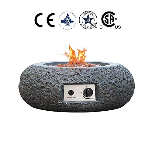 Smarten Arts Fantastic Outdoor Propane Gas Fire Pit for Garden/Patio/Balcony/Lawn (Grey)