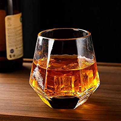 Glassware Whiskey glass set 6:Heavy Whiskey Tumbler Best as Old Fashioned Glasses