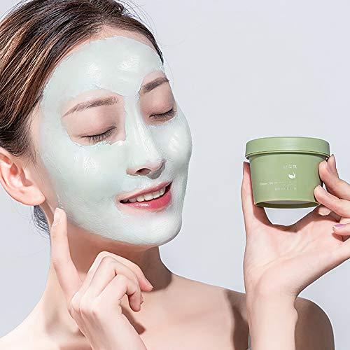 Green Mask Stick, Green Tea Purifying Clay Face Mask, Masque à l'argile purifiant au thé vert Bâton Contrôle, Oil Control Anti-Acne Deep Cleaning Moisturizing Mask.(Green)