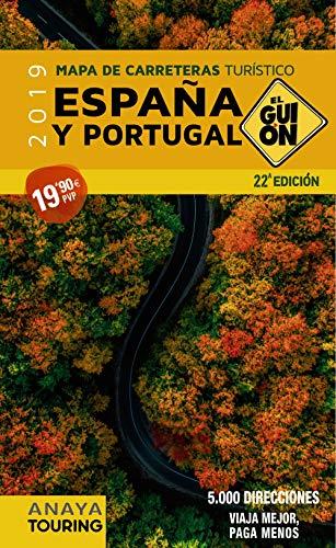 Mapa de carreteras turístico España y Portugal, 1:340.000 (2019) (El Guión)