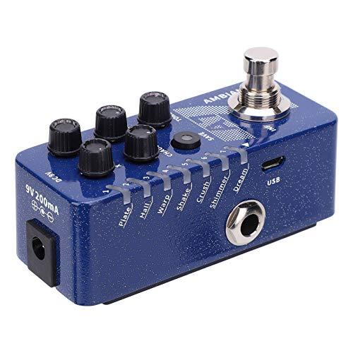 Pedal de efecto de ambiente de guitarra Pedal de efecto de reverberación estable portátil para principiantes de guitarra para entusiastas de la guitarra