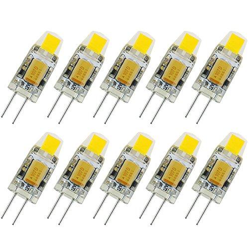 10er Pack, Pocketman G4 LED-Lampe 12V AC/DC COB-Glühlampe Licht 1.5W kaltweiß 360 Abstrahlwinkel[Energieklasse A+]