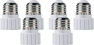 LEONLIGHT,E26 / E27 to GU10 adapters,Heat resistance, fire resistance, no fire danger,Screw base converter for LED or Halogen Bulb Lamp.UL certification. (6pcs)