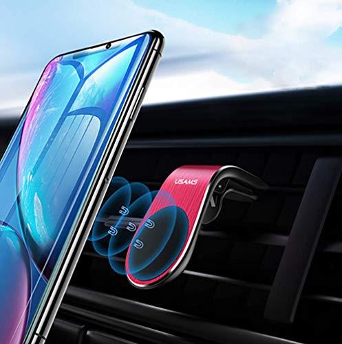 KAVERIL Soporte magnético para teléfono de coche con rejilla de ventilación universal para iPhone Xs Max XR 8 7 6 Plus Samsung Galaxy S10 S9 S8 S7 y más (negro)