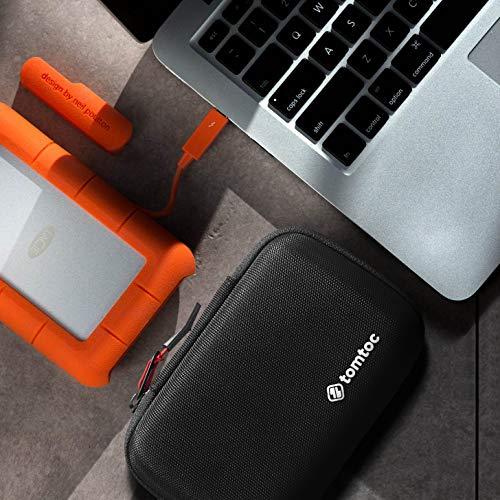 tomtoc Festplattentaschen Carrying Case Schutztasche Eva Hart HDD Tragetasche für 2,5 Zoll Externe Western Digital | Toshiba | Seagate | LaCie | HGST Festplatten, 8 SD Kartensteckplätzen
