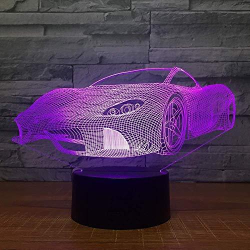Nachtlicht 3D-Schlaflampe 7 Farben Touch Control Nachtlichter Kreative Geburtstagsgeschenke Benutzerdefinierte 3D-Lampe Sport 3D Auto Led-Licht