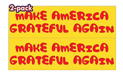Mega Format | Trump Pence Keep America Great 2020-3' x 10' Bumper Sticker | Good for Cars Bumpers, Trucks, Laptops, Lockers, Window, ETC. Made in The USA (2-Pack, Yellow)