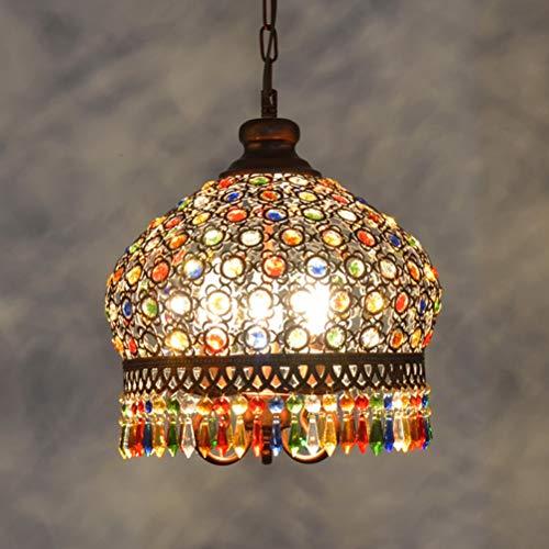 BIN Cristallo Lampadario Locale Etnico Colore Cristallo Lampadario Ristorante Luce Cafe Negozio Interno Decorazione Lampada,18
