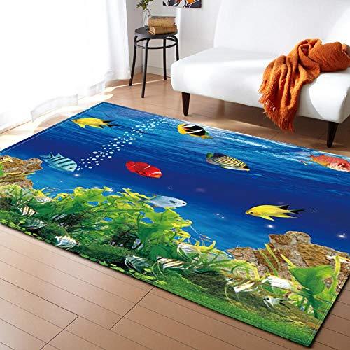 Duurzaam tapijt zacht tapijt zeegras vis eenvoudige moderne deurmat, gebied tapijten indoor outdoor, woonkamer, slaapkamer, kinderen kwekerij tapijt 47x67.