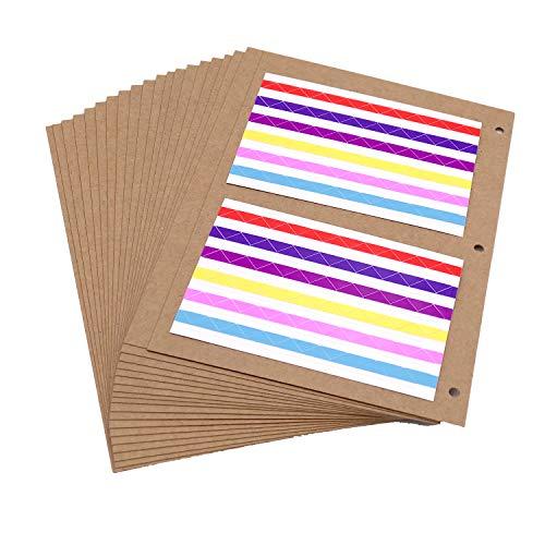 ThxMadam FotoalbumNachfüll SeitenKraft Papier 26x17,5CM, 20pcs Extra-Refill Kraftpapier InnenseitenWeitere SeitenfürScrapbook 27.5x20.5CM, für Album 'Groß'