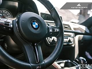 AutoTecknic Carbon Fiber Steering Wheel Trim for 2014+ M2 M3 M4 M5 M6 X5M X6M