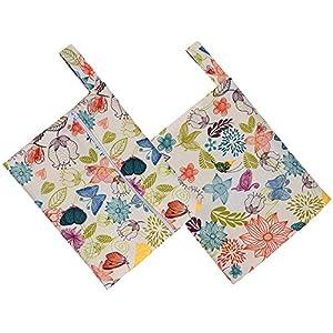 Gaddrt Women Girl's Sanitary Napkins Bag, Reusable Washable Wet Bag for Sanitary Pad, TPU Cute Menstrual Sanitary Aunt Bag Storage Bag Box Towel Pad