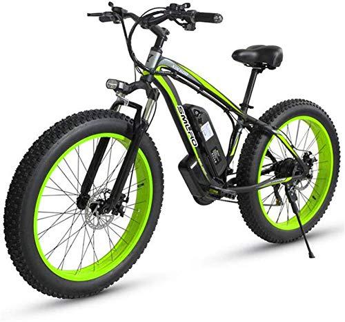 Bicicleta eléctrica de nieve, Montaña bicicleta eléctrica 500W 26' EBIKE adultos en bicicleta con extraíble 48V 15AH de iones de litio 27 - Velocidad de Todo Terreno Batería de litio Playa Cruiser par