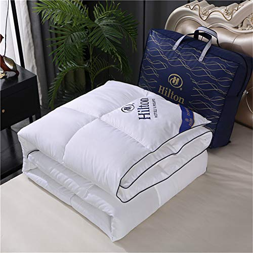 Household Bedding, Soft White Goose Down Duvet, 100% Microfiber, Anti-allergic and Anti-mites (White,180x220cm3kg)