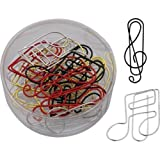 Paper Clips - Treble Clef/Music Note Shapes (Assorted Colours)