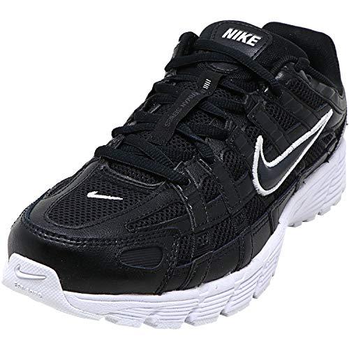 Nike P-6000 Damen-Laufschuhe Bv1021 Sneakers, Schwarz - Schwarz Anthrazit Weiß - Größe: 42 EU