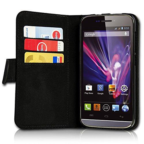sw-mobile-shop Book Style Huawei Ascend Y330 Premium PU-Leder Tasche Flip Brieftasche Handy Hülle mit Kartenfächer für Huawei Ascend Y330 - Design Flip SB297 - 5