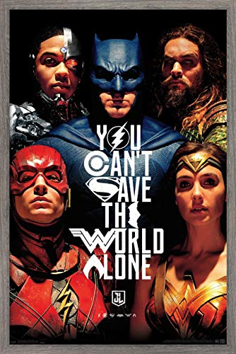 Trends International DC Comics Movie - Justice League - Save The World Wall Poster, 22.375' x 34', Multi