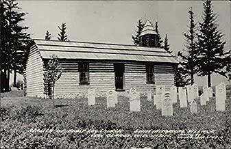 Swiss Historical Village - Replica of First Log Church New Glarus, Wisconsin Original Vintage Postcard