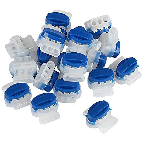 20PCS Kabelverbinder, 314 Wasserdicht Kabelklemme Kabelbinder Kunststoff für Mähroboter, Gardena Rasenmäher Mähroboter Rasenroboter Kabel Verbinder