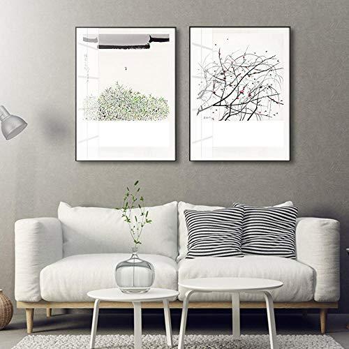 Mural de pared Murales murales de sala de estar Pintura decorativa de la sala de estar moderna pintura de decoración de dormitorio de sala de estar moderna simple pintura de cristal@D_40 * 60