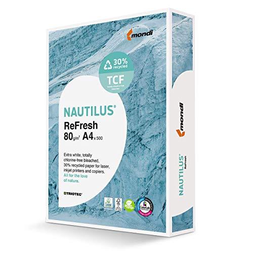 Mondi 88079114 Multifunktionspapier Nautilus ReFresh Triotec 80 g/m², A4 500 Blatt weiß
