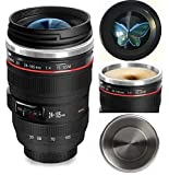 Camera Lens Coffee Mug,the Latest Design Stainless Steel Travel Mugs,Food Grade Materials,Leak Proof,12oz,Photography Mugs,Tumbler Insulated Cups for Hot and Cold Drinks,for All Ages