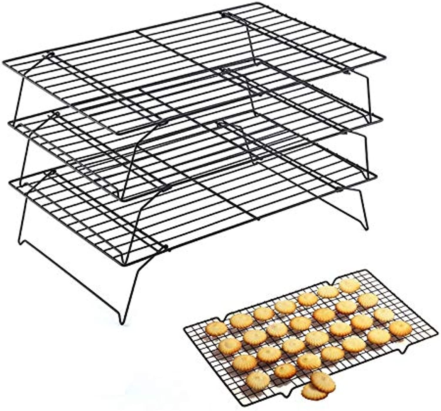 Hifuar Stainless Steel 3 Layers Inserts Stands DIY Nonstick Cooling Rack Baking & Pastry Tools Kitchen Bakeware Cake Cookies