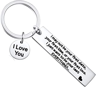 Couple Gifts - 2PCS I May Not Be Your First Date Your First Kiss Or Your First Love Keychain Father's Day Valentine's Day ...