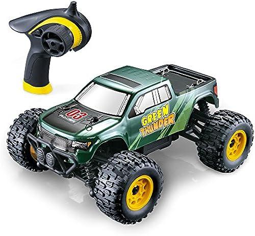 GPTOYS Fernbedienung Auto Fast 4 X 4 Off Road Elektro RC Truck Hobby Größe 1 24 Skala - Geschenk für Kinder und Erwachsene