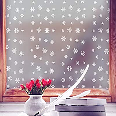Coavas Window Film Snowflake Frosted Glass Film SelfAdhesive