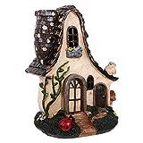 Cabilock Mini Harz Miniatur Fee Gartenhaus DIY Puppenhaus Miniatur Dekoration Ornament Moos Landschaft Dekoration (Bunt)
