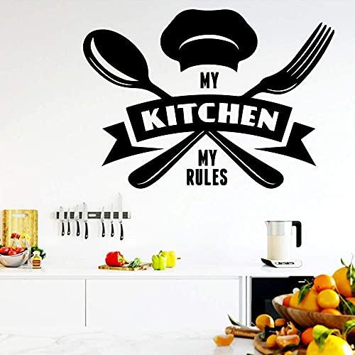 Oferta De Cocina Moderna Vinilo Autoadhesivo Impermeable Calcomanía De Pared Extraíble Adhesivo De Pared De Fondo Calcomanía De Arte De Pared 57X79Cm
