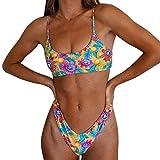 Mujer Conjunto de Bikini de Dos Piezas Almohadillas Bañador Estampar Traje de Baño Adecuado Viajes Playa La Natación