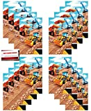 Big Dig Construction Zone Equipment Backhoe Birthday Party (16 Pack) Plastic Loot Treat Candy Favor Bags (Plus Party Planning Checklist by Mikes Super Store)