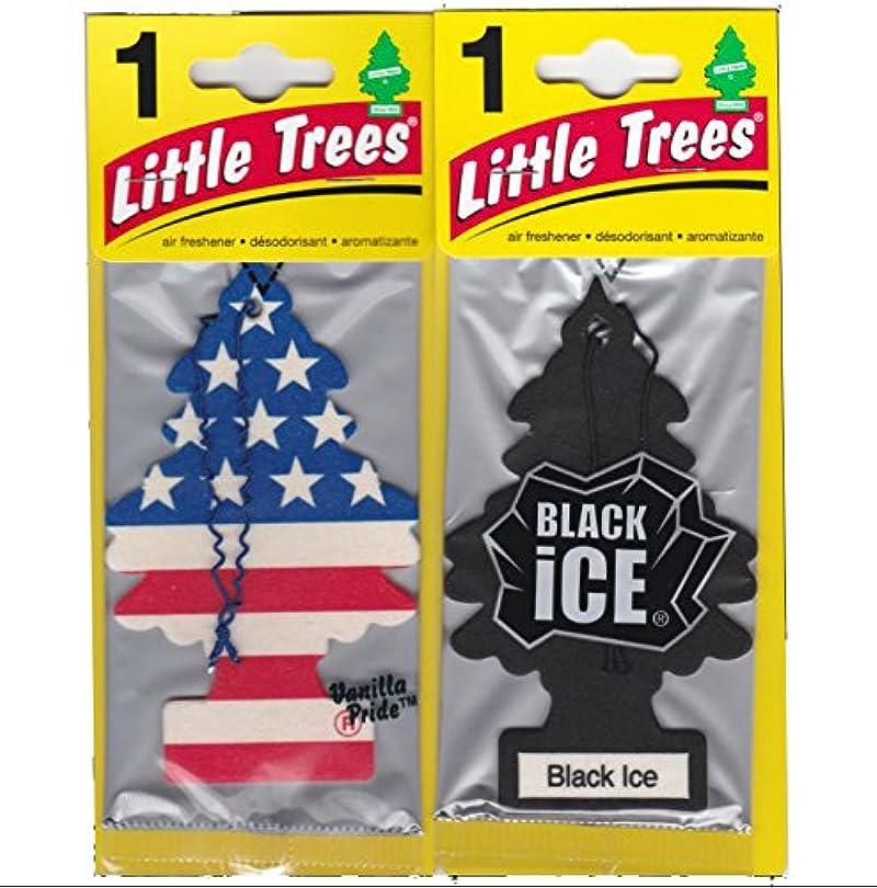 カメ写真あえぎLittle Trees 吊下げ式 芳香剤 エアーフレッシュナー ブラックアイス & バニラプライド [並行輸入品]