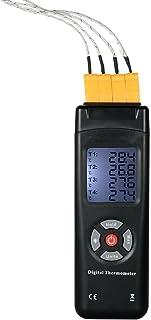 KKmoon TL-TK04 デジタル温度メーター 熱電対センサー 4チャンネル Kタイプ -50~1350°C データホールド機能
