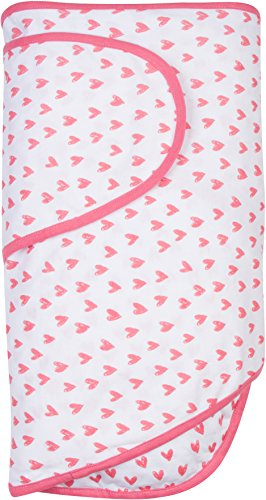 Miracle Blanket Swaddle Wrap for Newborn Infant Baby Coral Hearts